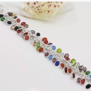 Jewelry - ❤️MULTI-GEMSTONE CHAIN BRACELET•925 STERLING💙